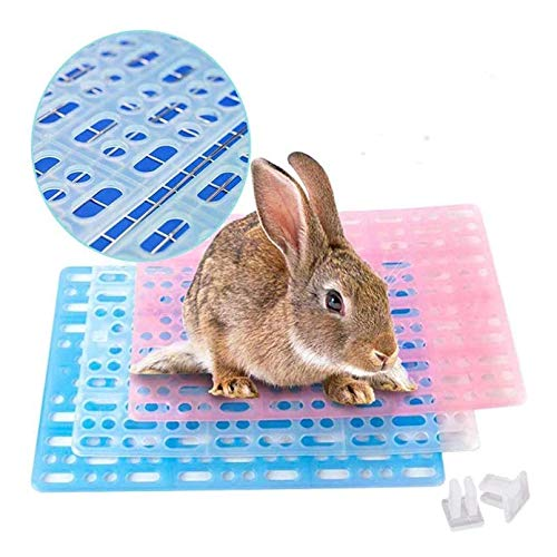 Rabbit Feet Pad, Hole Leak Water Design for Plastic Bunny Cage Mat