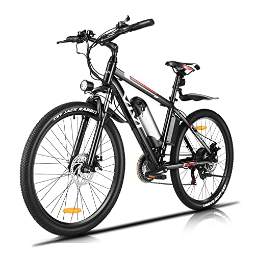 """Vivi Electric Bike Electric Bicycle for Adults, 500W/350W Ebike 26"""" Electric Mountain Bike with Removable 48V 12.5AH/36V 8AH Lithium Battery, Professional 21 Speed Gears/3 Working Modes/20MPH Speed"""