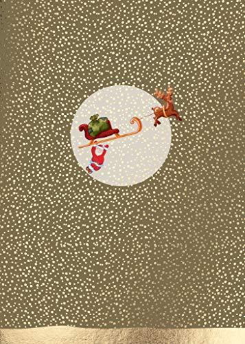 Cityproducts - 3607 - Postkarte, Weihnachten, Schlitten mit Weihnachtsmann, DIN A 6, 10,5cm x 13cm