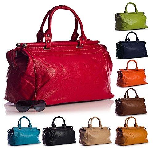 Big Handbag Shop in finta pelle in volo vacanza viaggio borsa da viaggio bagaglio a mano
