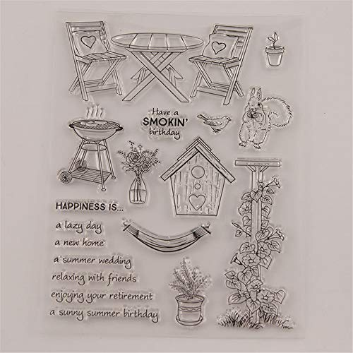 Relax Happiness Happy Birthday Stamp Rubber Clear Stamp/Seal Scrapbook/Photo Album Decorative Card Making Clear Stamps