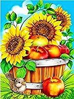 DIY数字油絵 塗り絵キット パズル油絵 フラワーフルーツ デジタル油絵 手塗り 数字キットによる絵画 絵かき インテリア 壁飾り ホームデコレーション 40x50cm(額縁なし)