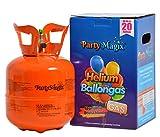 PartyMagix Heliumgasflasche Premium Heliumgas klein für 20 Ballons - Abgefüllt in Deutschland - Ballongas Helium Flasche Balloon Gas Geburtstag Party Hochzeit Luftballons Einweg