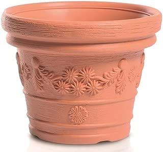NEU Blumentopf Blumenkübel Kunststoff Decora Ø39 cm Mocca Winterhart
