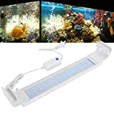 Cikonielf Luz de Acuario LED Lámpara de iluminación de Acuario Luces de pecera para Peces y Plantas Se Adapta a acuarios de 40 cm de Largo o Ancho(16W)