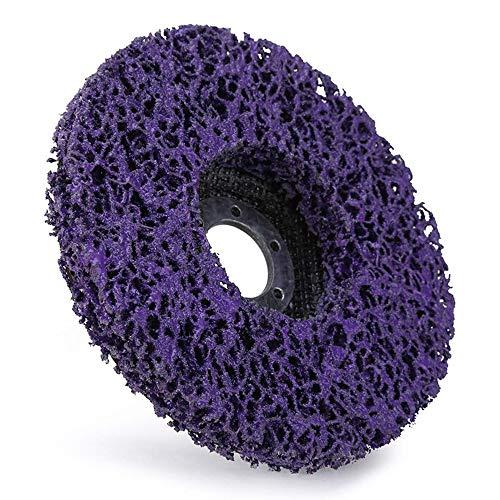 Disco de rueda abrasiva de tiras poliabrasivas, removedor de pintura oxidada, herramienta de limpieza, muela angular de 4