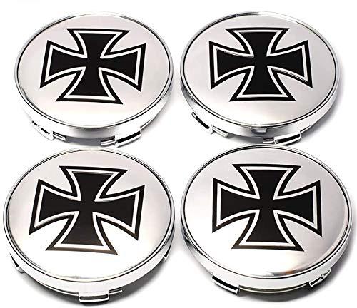 4Pcs Tapas De Cubo De Centro De Rueda para Volkswagen Bmw Volvo Rim 60mm, Coche Logo Emblem Wheel Center Rim Hub Caps Pegatinas Compatible