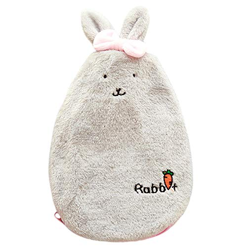 Wärmflasche Briskorry Kinderwärmflasche kuscheltier Niedlichen Cartoon Kaninchen Warme Wasser Tasche Handwärmer Winter Frauen Mädchen Kinder Geschenk Pelzige