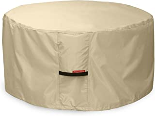 Porch Shield Fire Pit Cover - Waterproof 600D Heavy Duty Round Patio Fire Bowl Cover Beige - 40 inch