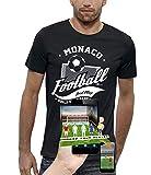 Photo de PIXEL EVOLUTION T-Shirt 3D Football Monaco en Réalité Augmentée Homme - Taille L - Noir par