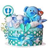 MomsStory – Tarta de pañales para niño | Oso de peluche | Regalo de bebé...