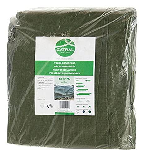 Toldo reforzado gramaje 120 grs, 5 x 8 m, color verde - Catr