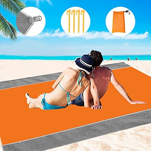 Alfombra de Playa 210 x 200 cm, Manta Picnic, Alfombra de Picnic, Manta Picnic Impermeable Adecuada para Picnic, Playa, Camping