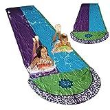 Wasserrutsche Aufblasbare Wasserrutsche Doppelspurige Wasserrutsche, Wassersport-Gartenrutsche Mit...
