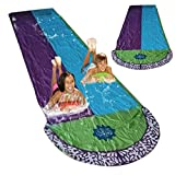 16FT Lawn Water Slides for Kids Backyard, Surf Rider Double Sliding Lane, Outdoor