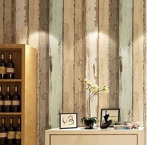 Moderno Patrón de Madera Vintage Rayado Rollo de Papel Pintado de Fibra No Tejida para 3D Sala de Estar Dormitorio Foto Papel de Pared Decoración para el hogar 5.3m²