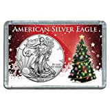 American Silver Eagle $1 Legal US Tender .999 Fine Silver Comes in Deluxe Christmas Tree Holder Perfect Gift for anyone on your list.