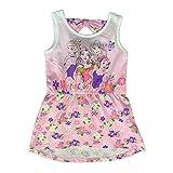 Disney 1831 Robe sans manches Princesses en coton imprimé fille de 3 à 6 ans - Rose - 4 ans