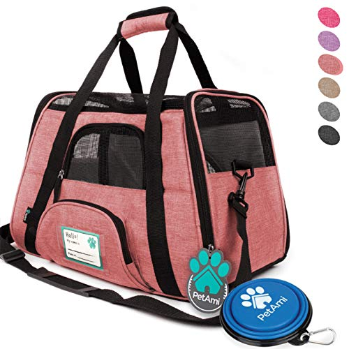 PetAmi Premium Airline Approved Soft-Sided Pet Travel Carrier | Ventilated, Comfortable Design with Safety Features | Ideal for Small to...