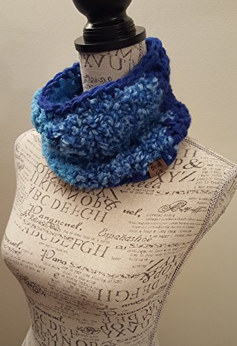 Bright Blue Cowl. Made By Bead G's On AMAZON