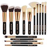MAANGE 15 Pieces Pinceaux de Maquillage Set/Kit Cosmétique Brush Beauté Maquillage Brosse Makeup Brushes Cosmétique Fondation fond de teint, blush, correcteurs pour les yeux