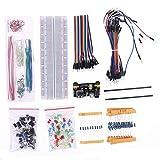 Meipai Componente Electrónico Set Starter Kit Fuente de Alimentación Módulo Resistor Compatible para Arduino R3