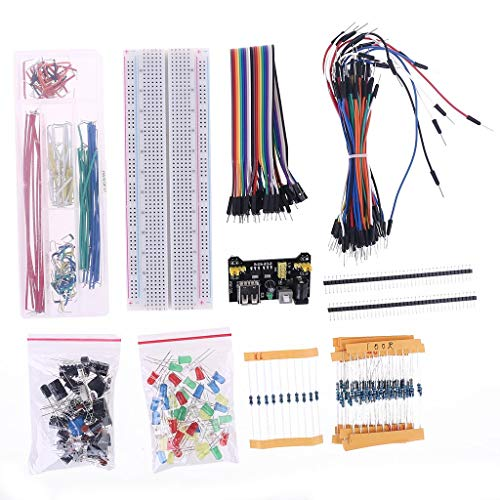 Meipai Electronic Component Set Starter Kit Power Supply Module Resistor Compatible for Arduino R3