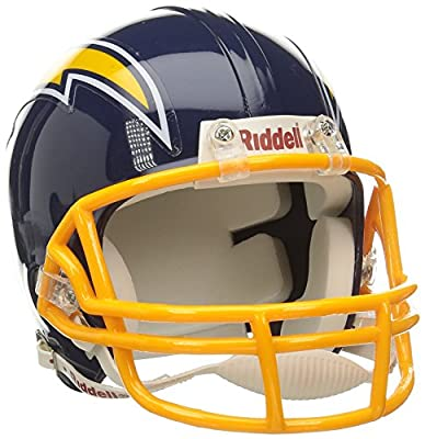 Hall of Fame Memorabilia Riddell San Diego Chargers Mini Replica Throwback Helmet