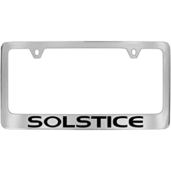 Pontiac Solstice Chrome Metal License Frame
