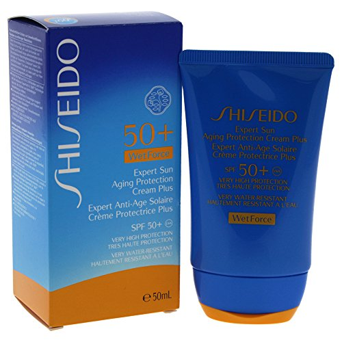 Shiseido Expert Sun Aging Protection Plus SPF 50 unisex, Sonnenlotion 50 ml, 1er Pack (1 x 0.08 kg)