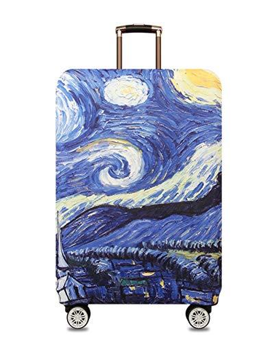 Protector de Maleta Divertida de Dibujos Animados para Equipaje de 18-32 Pulgadas,L (26-28 Pulgadas),Starry Sky
