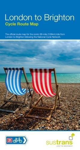 London To Brighton Cycle Route Map: Official map to the 68 mile ride on NCN21