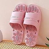 FYSY Escurrir rápida Baño Mula, Zapatillas de Masaje, baño Antideslizantes par de Sandalias y Zapatillas de Profundidad Pink_43-44, Playa tobogán de la Piscina de Zapatos fangkai77