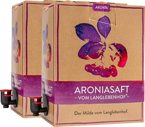 """2x Bio Aroniasaft vom Langlebenhof ,,DER MILDE\"""" - 2 x 3 Liter Bag-in-Box - 100{c030edc4a08836c31217ea5304bd484336bf0e195f838a1c819927e093cbece7} Direktsaft - Aronia Muttersaft - ohne Zusätze"""