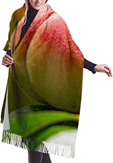 27 'x77' Bufandas para niñas Melocotones que crecen en un árbol Niñas Abrigo Chal Bufanda con flecos Elegante manta grande...