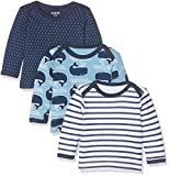 Care Barba, T-Shirt Bébé Garçon, Lot de 3, Multicolore (Deep Skye Blue), 62