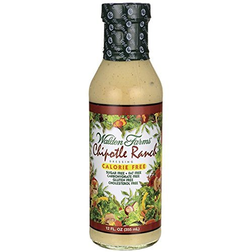 Walden Farms CHIPOTLE Ranch (1 bottle) Dressing, Sugar Free, Calorie Free, Fat Free, Carb Free, Gluten Free (12 oz bottle) by Walden Farms