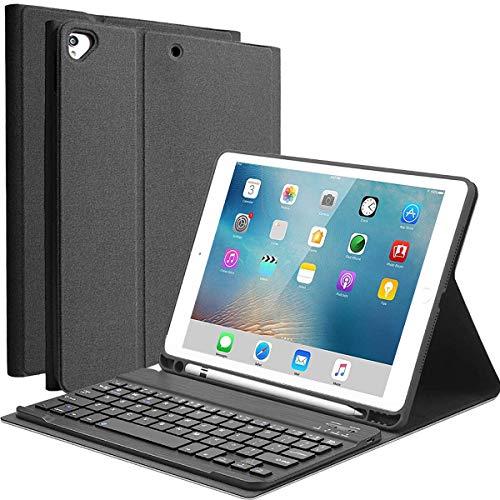 YingStar Teclado con Funda para iPad 9.7 2018 (6 Gen) / iPad 9.7 2017 (5 Gen) / iPad Air 1 / iPad Air 2 / iPad Pro 9.7 Español Teclado Bluetooth Inalámbrico Desmontable Carcasa con Soporte y Teclado
