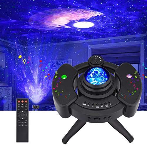 LED Sternenhimmel Projektor, Galaxy Light Sternenlicht, Kinder Nachtlicht Projektionslampe mit Fernbedienung Starry Stern, Mond/Wolke, Timer und Musikspieler mit Stereo Bluetooth für Party Geburtztag