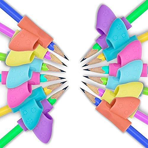 6 Stück Stift Griffe Klammern Kindergarten Schüler Bleistift-Set Korrekturstift, Um Kinder Anfänger Haltung Kind Lernen Schreiben Haltung Korrektur-Tool Zu Korrigieren