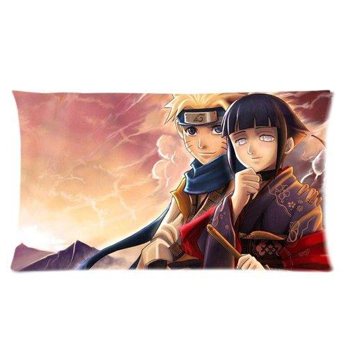 Japón Anime Cartoon Naruto Hyuga Hinata y Naruto amanecer mañana brilla Custom ropa de cama funda de almohada DIY fundas Throw Cojín cuadrado casos