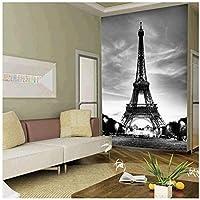 Wkxzz 壁画 壁紙 壁の装飾画カスタム3D写真壁紙クラシック建築エッフェル塔壁画リビングルーム入り口背景装飾壁紙-400X280Cm
