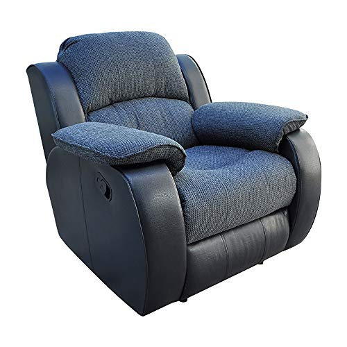 VBARV Sofá Moderno de Tela Individual, Silla reclinable Manual Ajustable, Respaldo Lumbar y Respaldo tapizado, Acolchado Mullido, para Sala de Estar, Dormitorio, Oficina