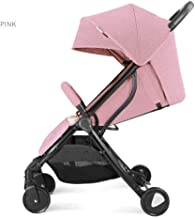 Stroller Shockproof Can Sit Reclining Light and Easy to Fold Carrying Children Stroller Pink,Pink