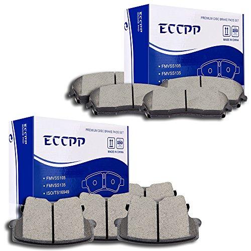Brake Pads Discs Kits,ECCPP 8pcs Front Rear Ceramic Disc Brake Pad Set for 2005-2017 Chrysler 300 2009-2017 Dodge Challenger 2006-2017 Dodge Charger 2005-2008 Dodge Magnum