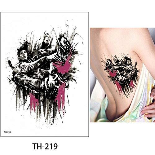 HXMAN 5pcs 14.8,21cm Glaryyears 24 Disegni Flower Arm Body Tattoo Sticker Th Temporary Leg Back Waist Art Tattoo Trucco Eagle TH-219