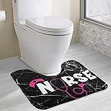 Hoklcvd Nurse Stethoscope U-Shaped Toilet Floor Rug Non-Slip Toilet Carpets Bathroom Carpet