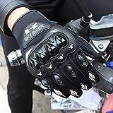 Bruce Dillon Moto Antideslizante Concha Dura Guantes de Dedo Completo Moto Protectora Palma Antideslizante Transpirable Guante de Carreras Motocross Verano - Gris, XL