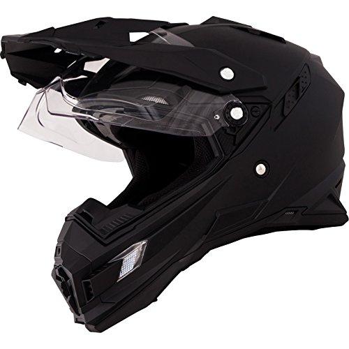 O'Neal Sierra Adventure Enduro Helm matt schwarz aerodynamischer Motorradhelm mit Sonnenblende, 0815-40, Größe X-Small (53 - 54cm)