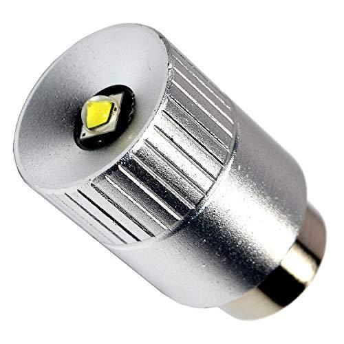 HQRP Ampoule de mise à niveau ultra puissante de conversion de 3W LED de la puissance 300Lm pour Mag-Lite 2 3 D C Cellule Lampe torche LMSA201 Lampe au xénon Mag-num Star avec HQRP Sous-verre